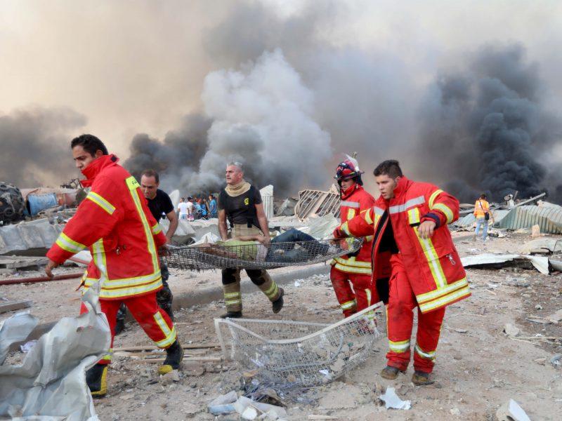 Niokojantis sprogimas Beirute
