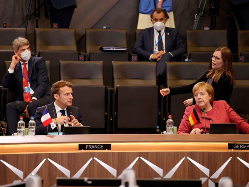 E. Macronas Berlyne susitiks su Vokietijos kanclere A. Merkel