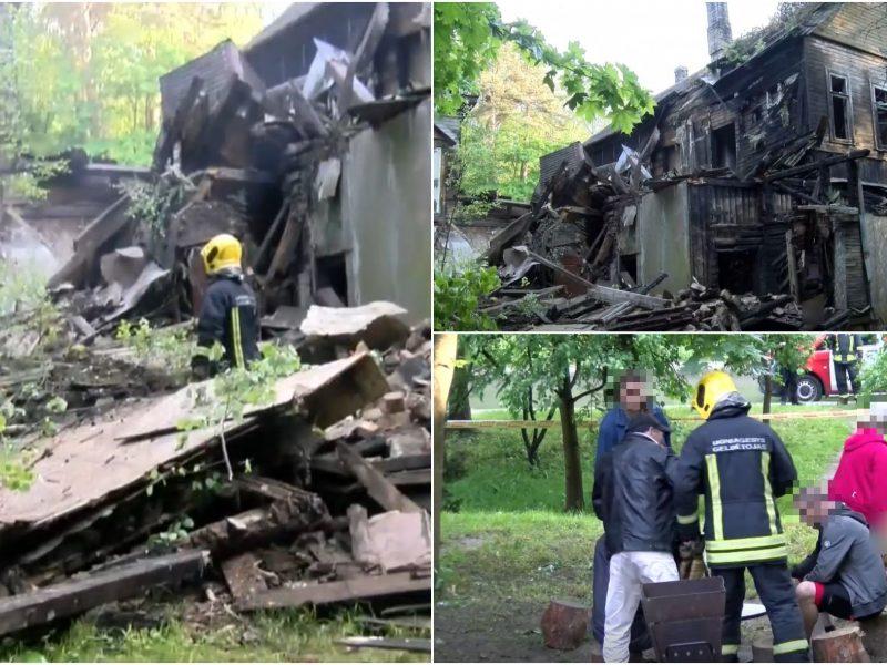 Vilniuje sugriuvo apleistas namas: kieme pasigirdo benamių riksmai, o vėliau prasidėjo puota