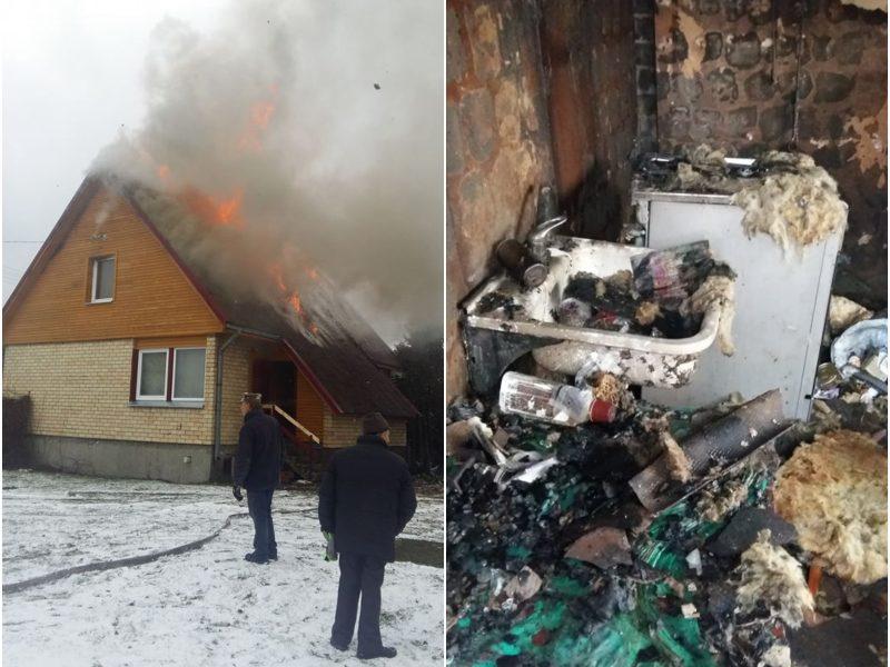 Po gaisro liko tik plikos namo sienos: artimieji tikisi Kalėdų stebuklo