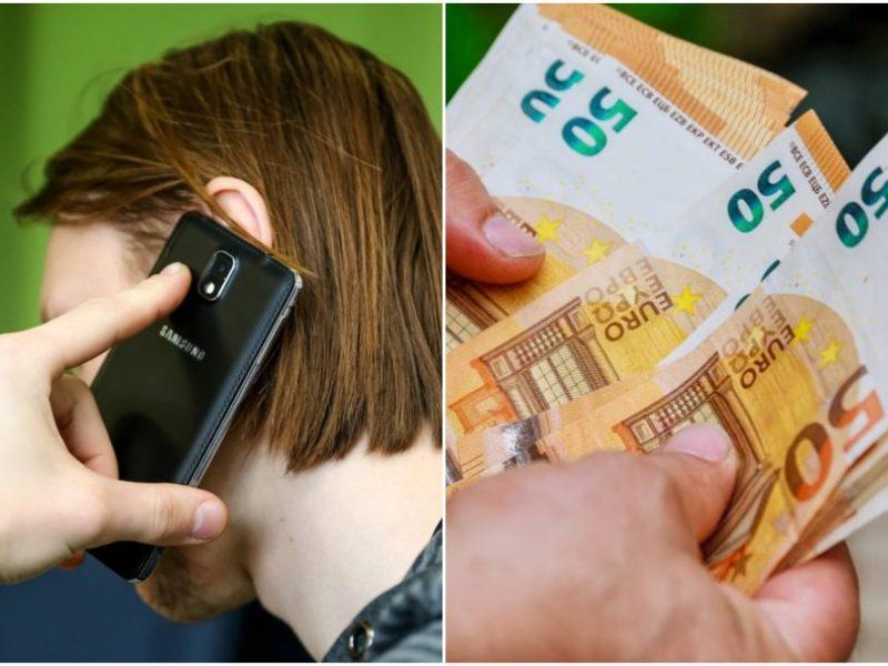 Prisistatę banko darbuotojais sukčiai iš moters išviliojo 4 tūkst. eurų