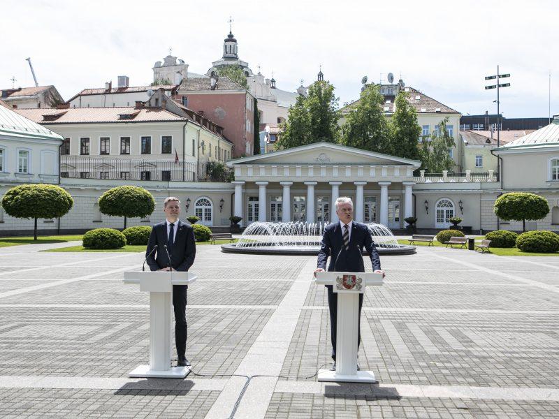 """G. Nausėda ir R. Šimašius pristatė iniciatyvą """"Vilnius atviras kultūrai"""""""