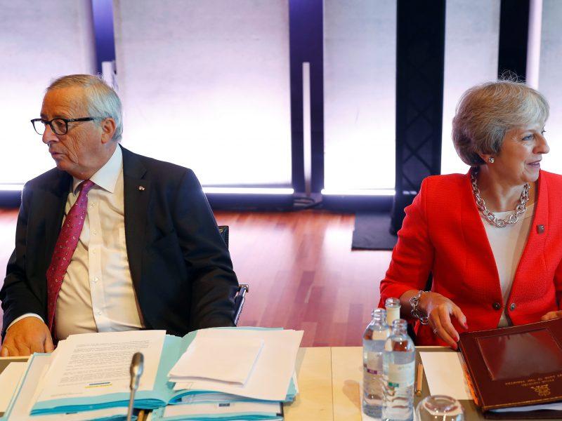 """EK pirmininkas: """"Brexit"""" derybos primena ežių meilę"""