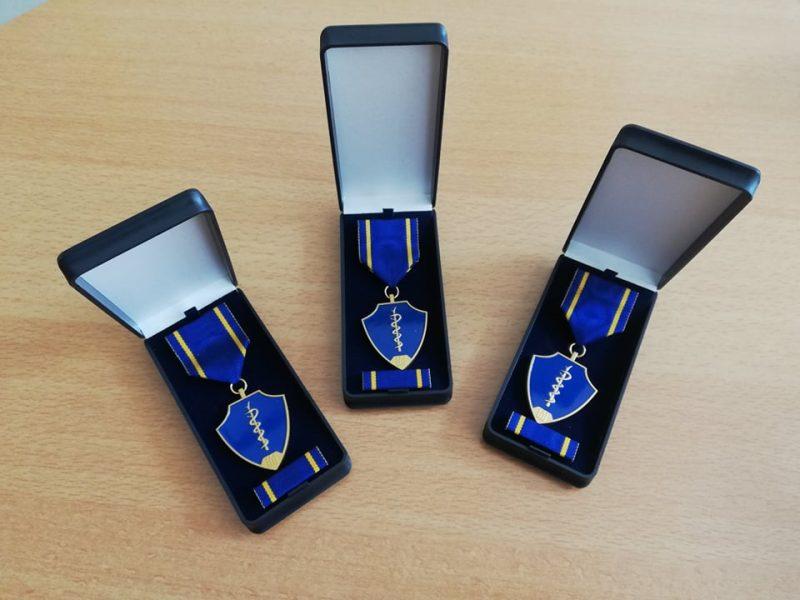 A. Veryga pats sukūrė medalį medikams