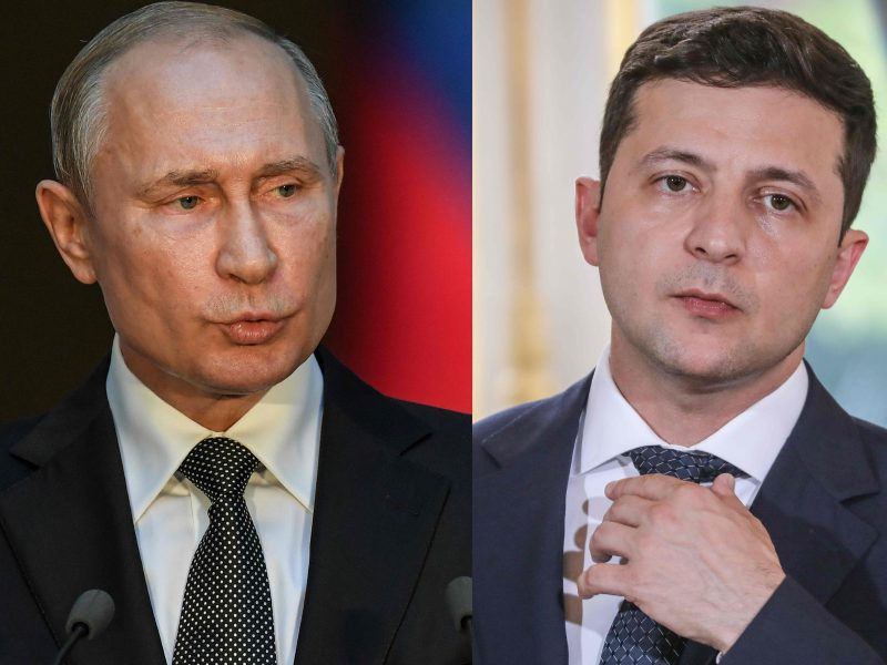 Telefonu pasikalbėję V. Putinas ir V. Zelenskis aptarė padėtį Rytų Ukrainoje
