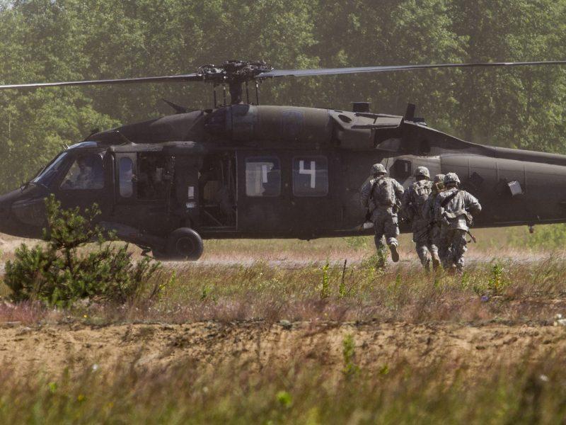 Panevėžyje vyko neeilinės karinės pratybos