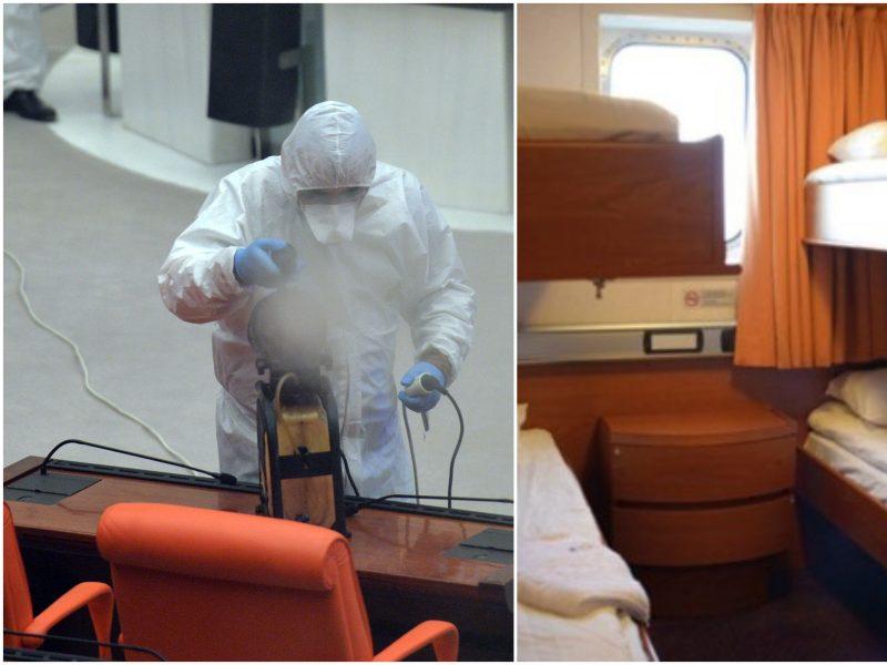 Ypatinga padėtis uoste: karščiavo keleiviai, dezinfekuojamas keltas