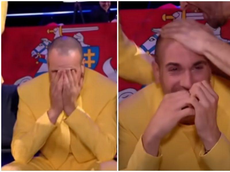 """Lietuvai patekus į """"Eurovizijos"""" finalą, """"The Roop"""" lyderis nesulaikė ašarų"""