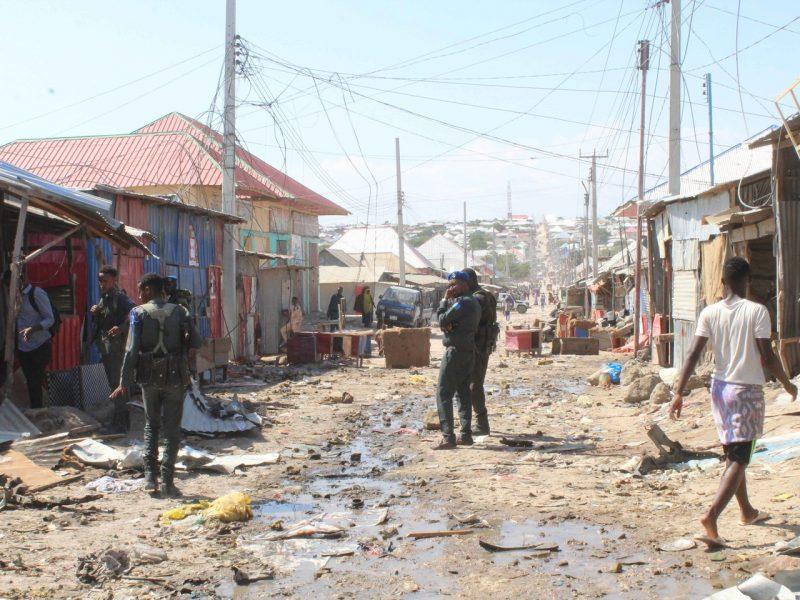 Judriame Somalio sostinės turguje nugriaudėjo galingas sprogimas