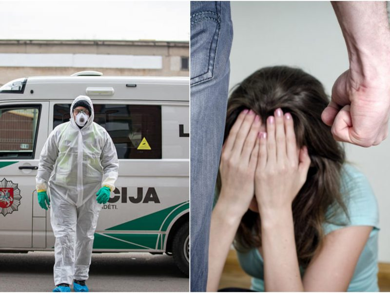 Klaipėdoje žmoną mušusiam smurtautojui – testas ir dėl koronaviruso