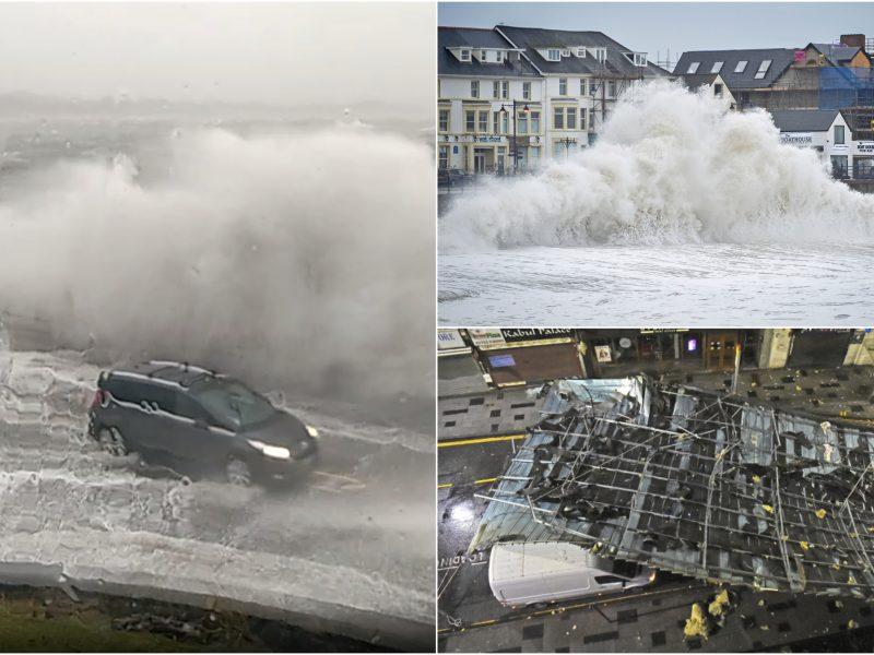 Audra Jungtinėje Karalystėje sukėlė chaosą: plėšė stogus, žmonės liko be elektros
