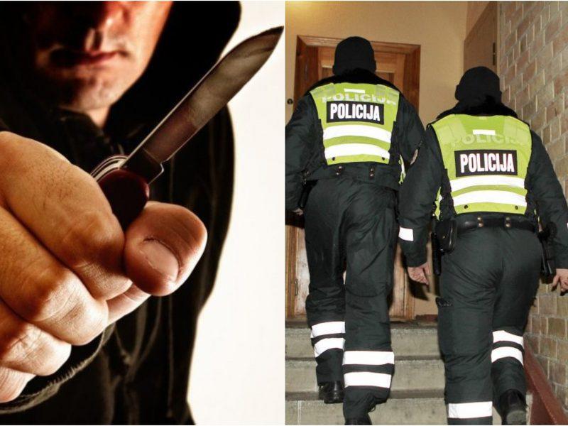 Incidentas Vilniuje: užpuolikas, grasinęs peiliu, pavogė moters mobilųjį telefoną