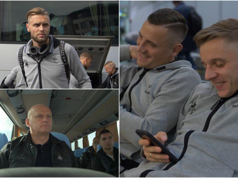 Lietuvos futbolo rinktinė atvyko į Ukrainą: bandys pasiekti išsvajotą pergalę