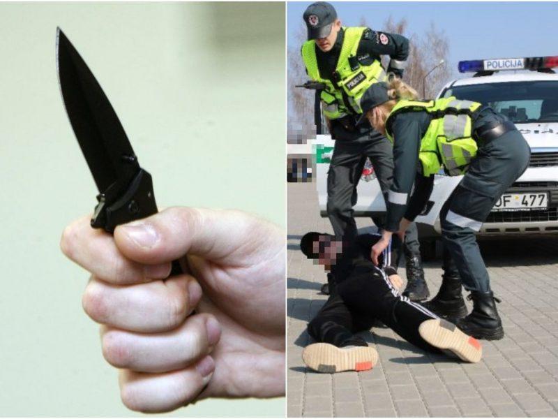 Agresijos protrūkis Palangoje: girtas vyras grasino peiliu, priešinosi pareigūnams
