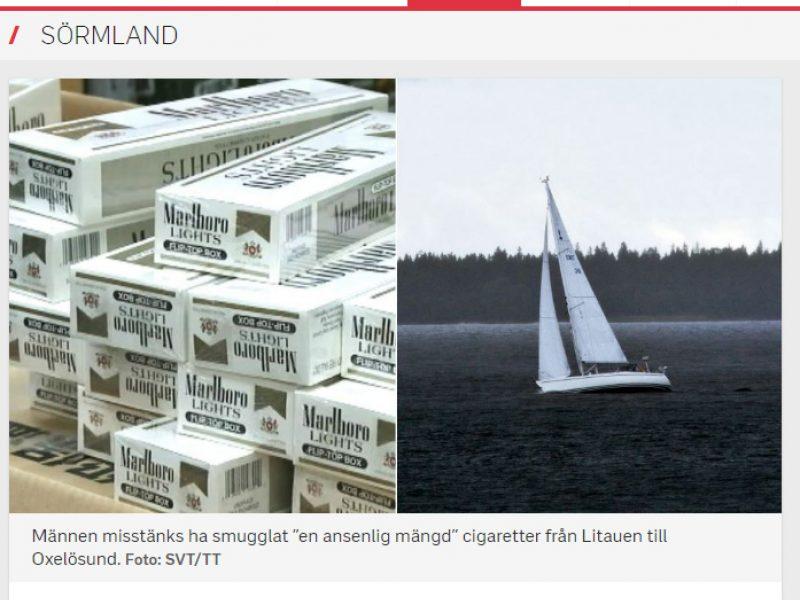 Sumenkinta buriuotojų reputacija: į Švediją – su slaptu kroviniu