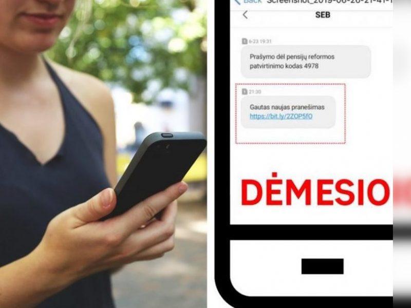 Sukčiai nusitaikė ir į SEB banką – perspėja apie netikras SMS žinutes