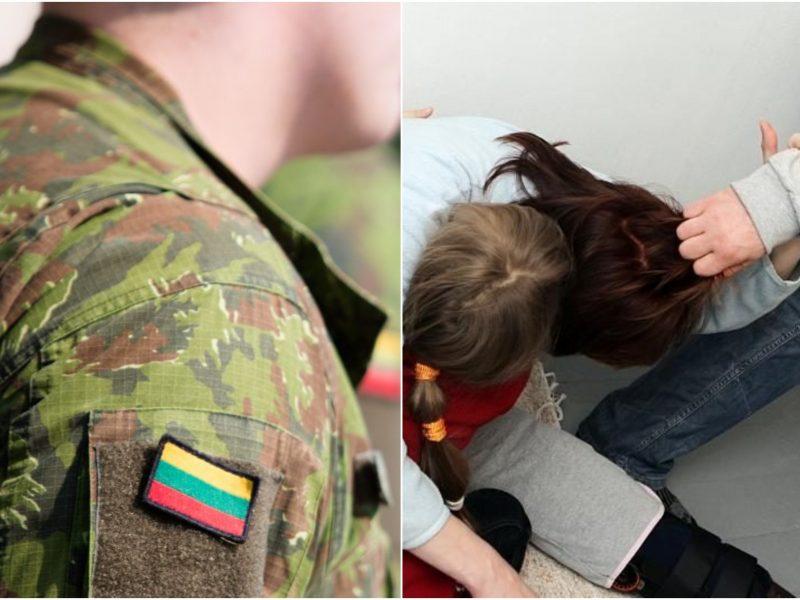 Į areštinę uždarytas girtas karys: vaikų akivaizdoje smurtavo prieš moterį
