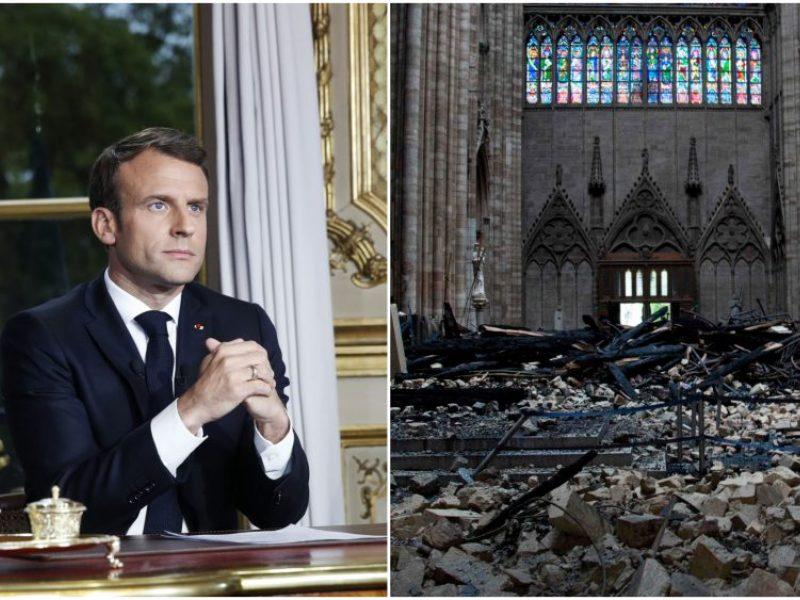 Po gaisro Paryžiaus Dievo Motinos katedroje ūgtelėjo E. Macrono reitingas