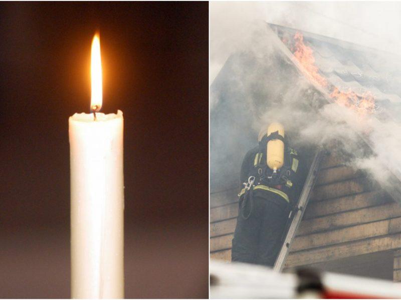 Tragiška nelaimė Ignalinos rajone: per gaisrą žuvo žmogus