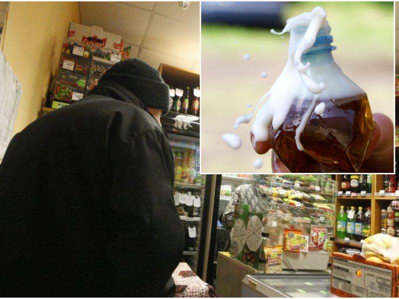 Plėšimas Klaipėdos rajone: girti vyrai pastūmė pardavėją dėl butelio alaus