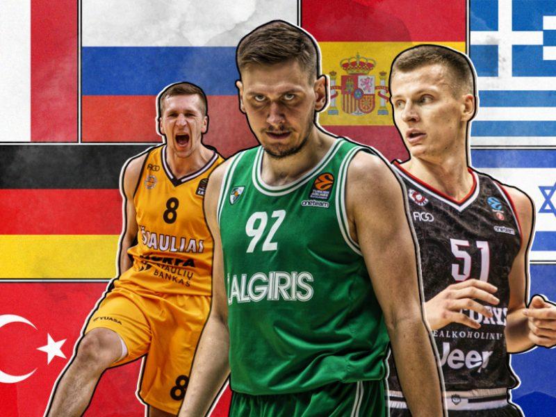 Septyni Lietuvos krepšininkai, galintys pradėti legionieriaus karjerą