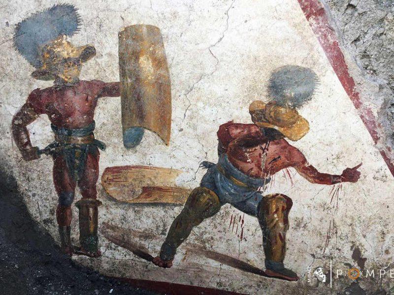 Netikėtas radinys: Pompėjoje aptikta gerai išsilaikiusi freska