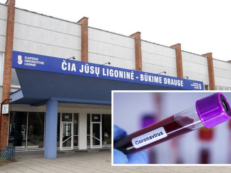 Klaipėdos universitetinėje ligoninėje išplitus koronavirusui uždaryta dešimt skyrių