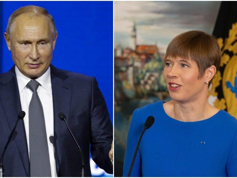 Oficialu: V. Putinas susitiks su Estijos prezidente K. Kaljulaid