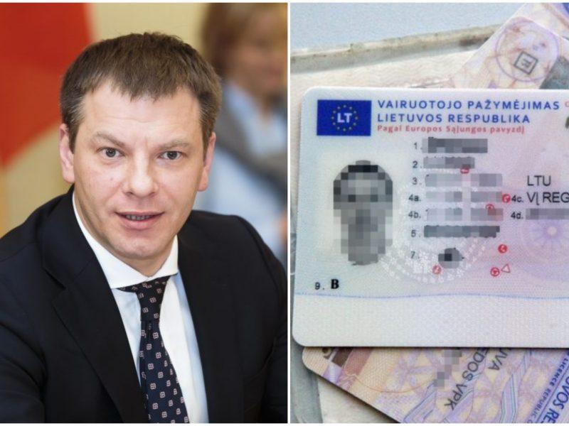 V. Šapoka nemato rizikų dėl vairuotojo pažymėjimo tapatybei nustatyti