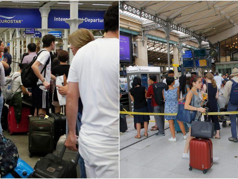 """Gedimas Paryžiaus stotyje: sutriko """"Eurostar"""" traukinių eismas"""