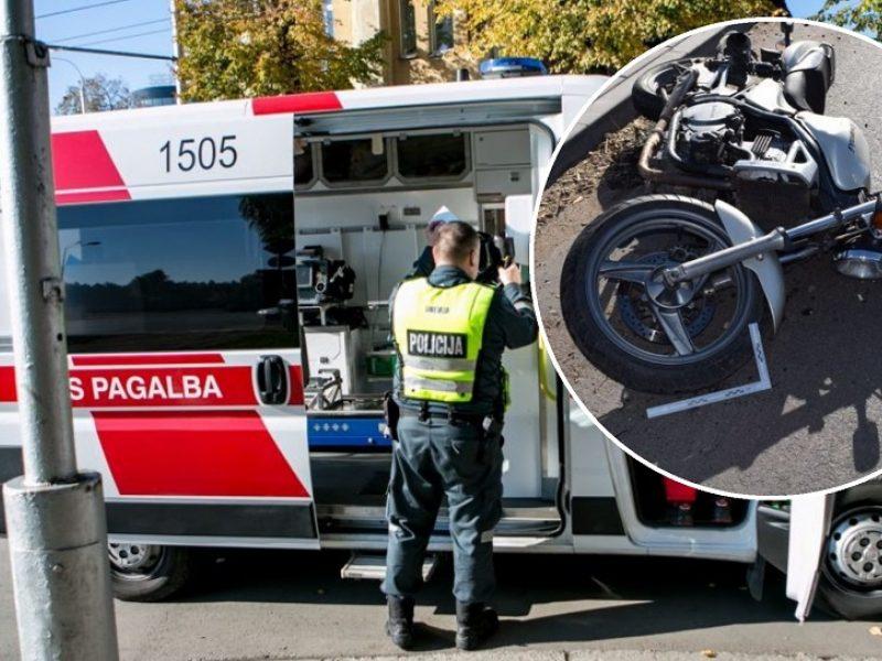 Per avariją Šilainiuose nukentėjo motociklininkas: jis – medikų rankose