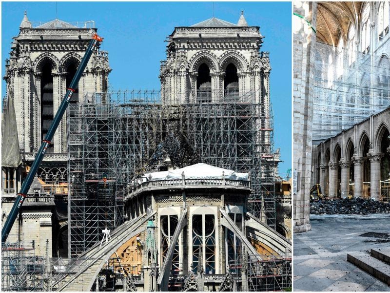Įtampa Paryžiuje: dėl karščio gali griūti Dievo Motinos katedros skliautai