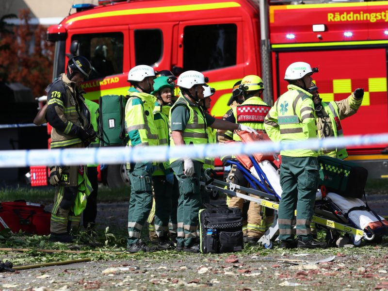 Švedijoje per galingą sprogimą sugriautas policijos sandėlis