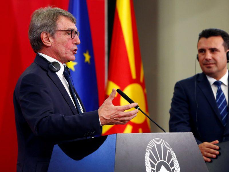 Europos Parlamento pirmininkas paragino priimti Šiaurės Makedoniją į ES