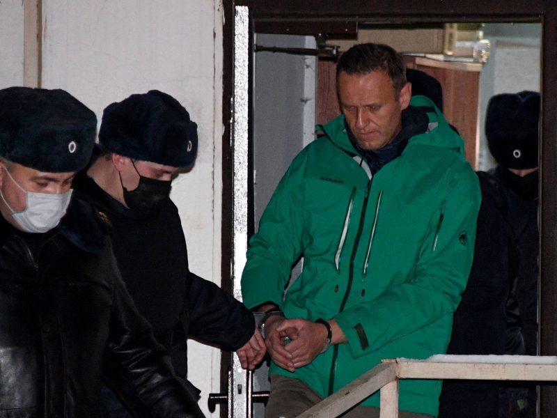 EVT pirmininkas per pokalbį telefonu su V. Putinu paragino paleisti A. Navalną