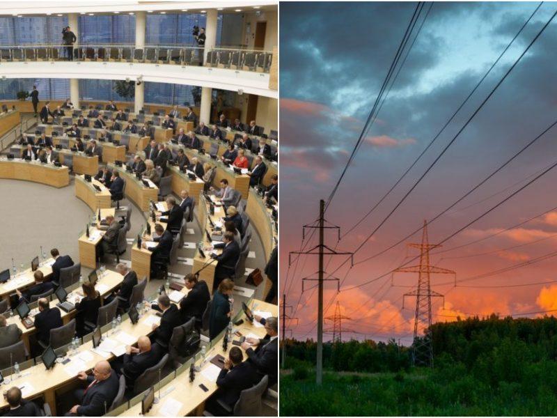 Seime – idėja numatyti daugiau saugiklių baltarusiškai elektrai