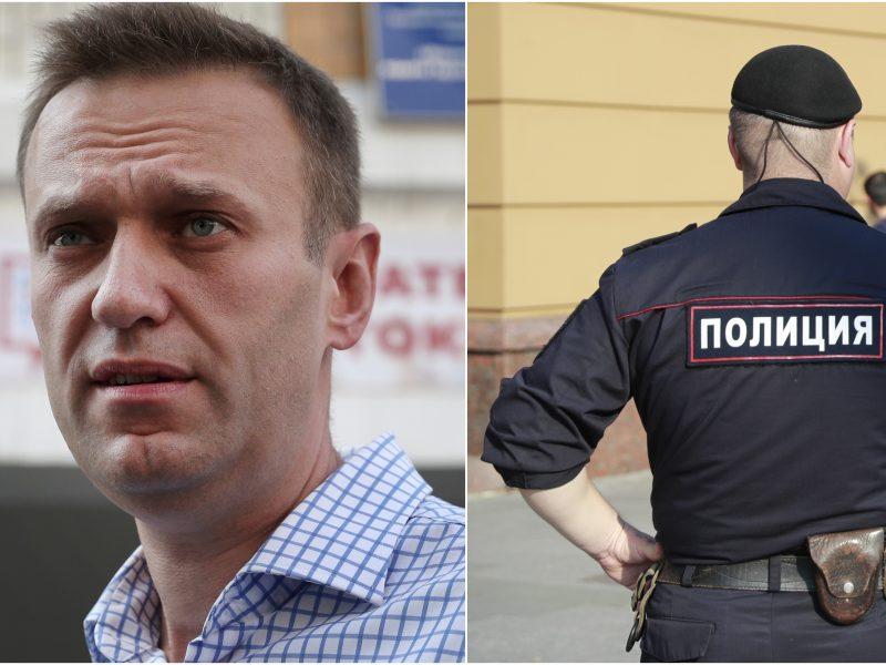 Rusijos teisėsaugininkai krečia opozicijos lyderio A. Navalno regioninius štabus