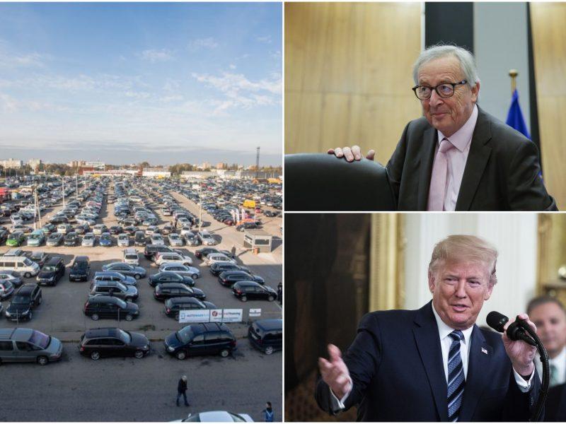 EK pirmininkas: D. Trumpas neįves muitų europietiškiems automobiliams