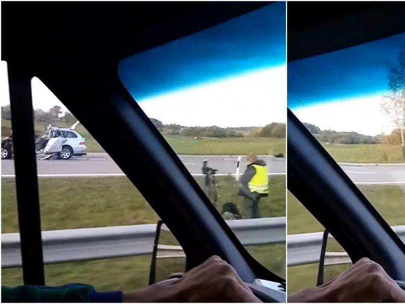 Vilniaus rajone susidūrė krovininis ir lengvasis automobiliai: žuvo BMW vairuotojas