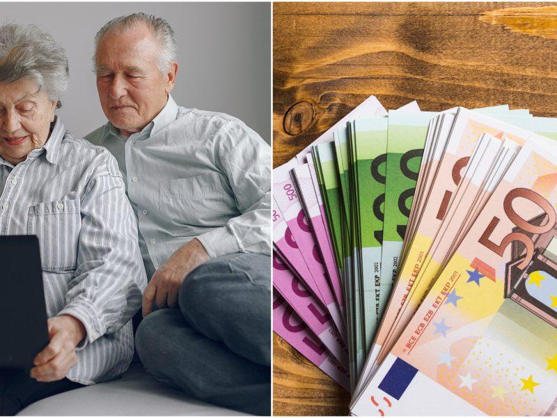 Ministras: vidutinė pensija kitąmet priartės prie 50 proc. algų vidurkio