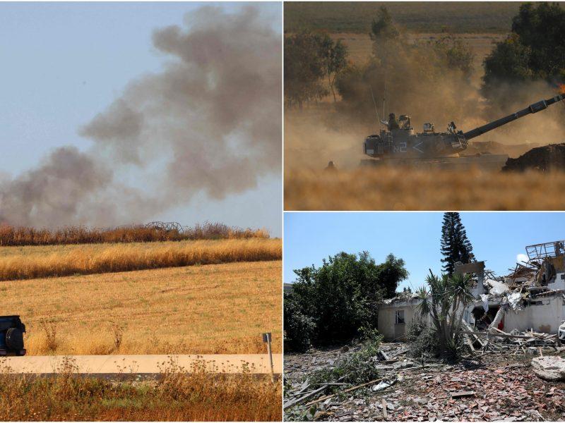 Izraelis telkia pajėgas prie Gazos Ruožo ir imasi priemonių vidaus neramumams malšinti