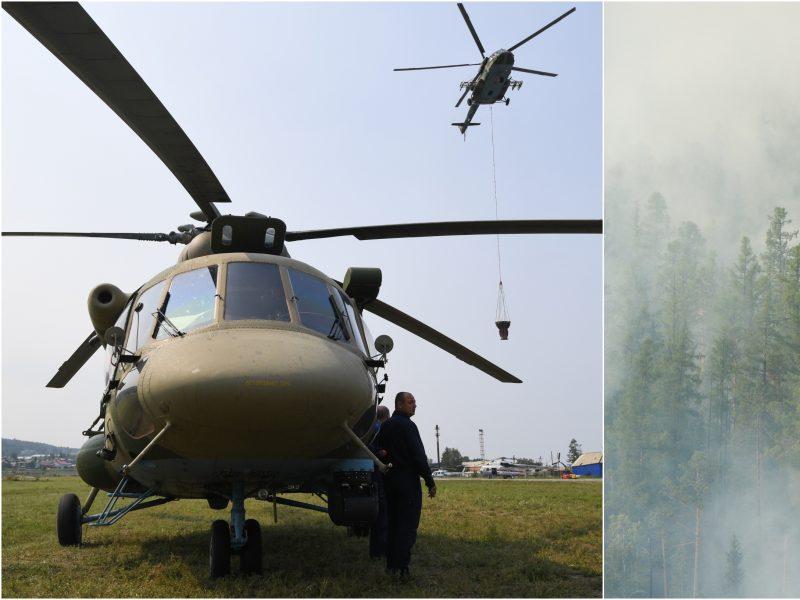 Miškai Sibire ir toliau dega – gaisrininkai užgesino tik nedidelę dalį
