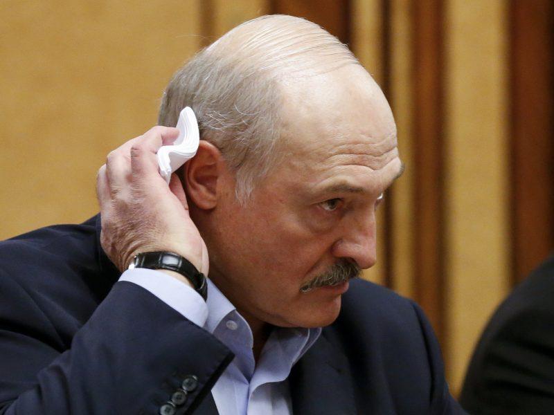 Baltarusijos prezidentas A. Lukašenka atvyko stebėti karinių pratybų prie Gardino