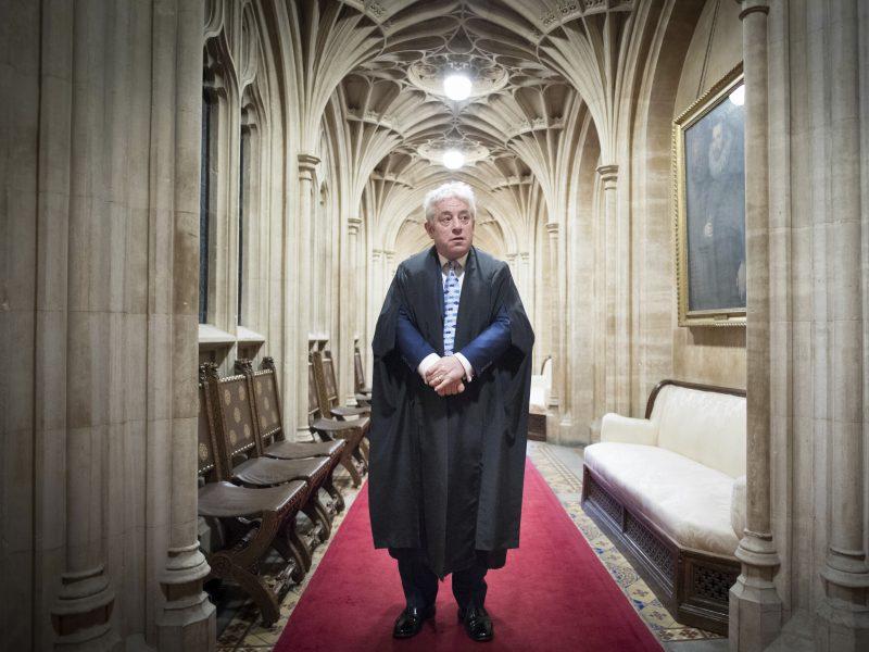 J. Bercow pasitraukė iš D. Britanijos Bendruomenių Rūmų pirmininko posto