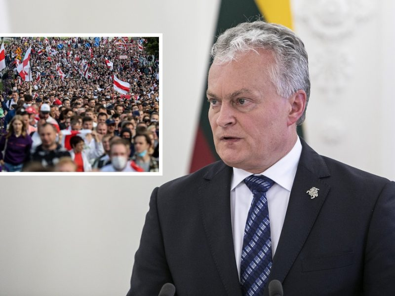 Prezidentas su Austrijos vadovu aptarė žmogaus teisių padėtį Baltarusijoje