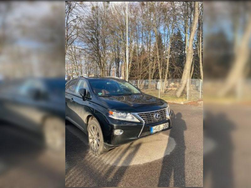 """Kaune pavogtas 26 tūkst. eurų vertės """"Lexus"""": už naudingą informaciją žada atlygį"""