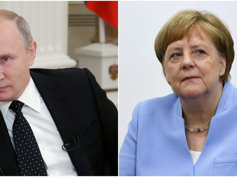 V. Putinas: A. Merkel pabėgėlių politika – kardinali klaida