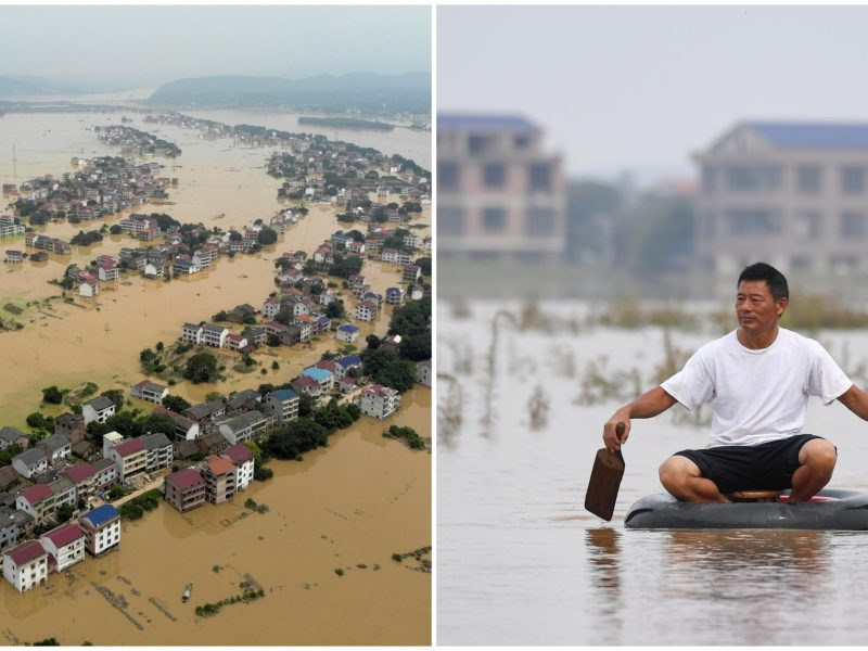 Kiniją pasiglemžė potvyniai: aukų skaičius didėja