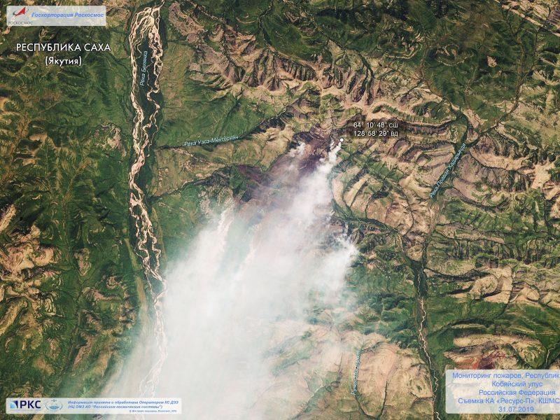 Įtampa Rusijoje: didžiulių miškų gaisrų Sibire išdegintas plotas vis didėja