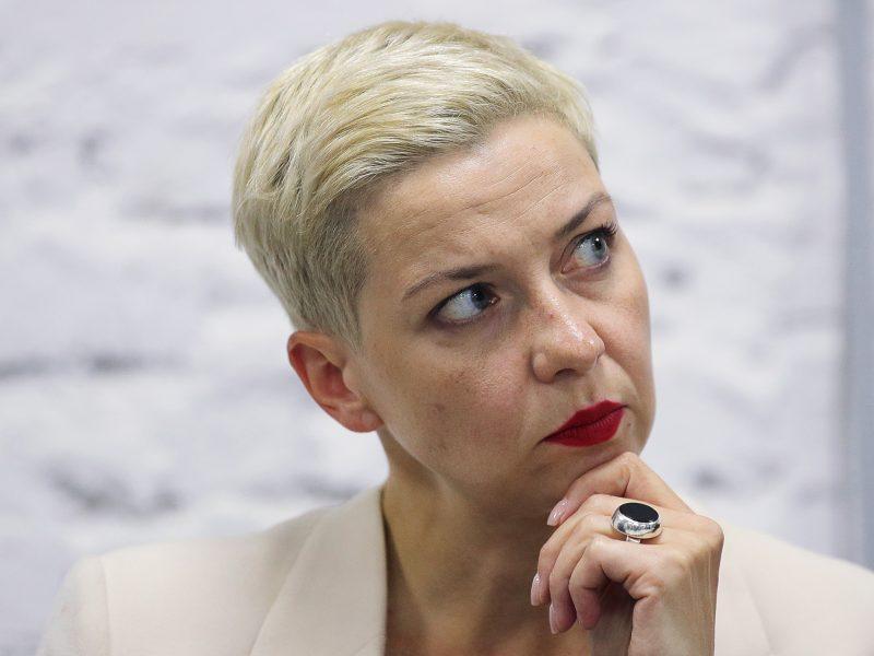 M. Kalesnikavai pareikšti kaltinimai dėl žalos Baltarusijos nacionaliniam saugumui
